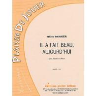 BARBIER G. IL A FAIT BEAU AUJOURD'HUI HAUTBOIS