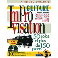 IMPROVISATION GUITARE 50 SOLOS ET PLUS DE 150 PLANS