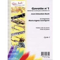 BACH J.S. GAVOTTE N°1 ALTO