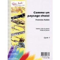 AUBIN F. COMME UN PAYSAGE CHOISI ALTO