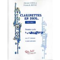 CIESLA A./RENE F. CLARINETTES EN DUOS VOL 2