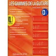 GANTER P. LES GAMMES DE LA GUITARE VOL 1