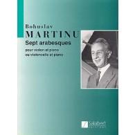 MARTINU B. SEPT ARABESQUES VIOLONCELLE OU VIOLON