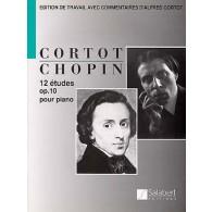 CHOPIN F. 12 ETUDES OP 10 PIANO