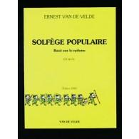 VAN DE VELDE SOLFEGE POPULAIRE CLE DE FA