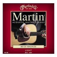 PACK DE 12 JEUX DE CORDES ACOUSTIQUE MARTIN LIGHT 12/54
