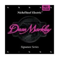 PACK DE 12 JEUX DE CORDES DEAN MARKLEY NICKELSTEEL ELECTRIC REG 10-46