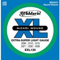 JEU DE CORDES D'ADDARIO EXL130 EXTRA-SUPER LIGHT 8/38