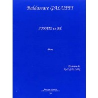 GALUPPI B. SONATE EN RE PIANO