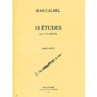 CALMEL J. 18 ETUDES CLARINETTE