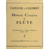 TAFFANEL/GAUBERT METHODE COMPLETE FLUTE VOL 2