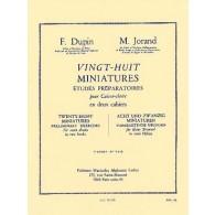 DUPIN F./JORAND M. 28 MINIATURES VOL 1 CAISSE CLAIRE