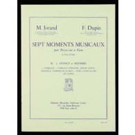 JORAND M./DUPIN F. 7 MOMENTS MUSICAUX N°2 PERCUSSION