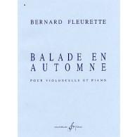 FLEURETTE B. BALLADE EN AUTOMNE VIOLONCELLE