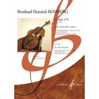 ROMBERG B.H. SONATE N°1 OP 43 VIOLONCELLE