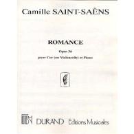 SAINT-SAENS C. ROMANCE OP 36 VIOLONCELLE OU COR