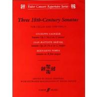 THREE 18TH CENTURY SONATAS VIOLONCELLE