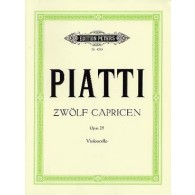 PIATTI A. CAPRICES OP 25 VIOLONCELLES SOLO