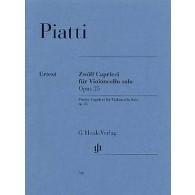 PIATTI A. CAPRICES OP 25 VIOLONCELLE SOLO