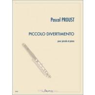 PROUST P. PICCOLO DIVERTIMENTO FLUTE PICCOLO