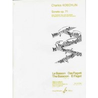 KOECHLIN C. SONATE OP 71 BASSON