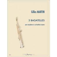 MARTIN G. 3 BAGATELLES SAXO TENOR