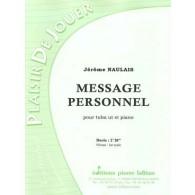 NAULAIS J. MESSAGE PERSONNEL TUBA BASSE