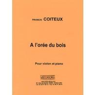 COITEUX F. A L'OREE DU BOIS VIOLON