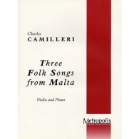 CAMILLERI C.  3 FOLK SONGS FROM MALTA VIOLON
