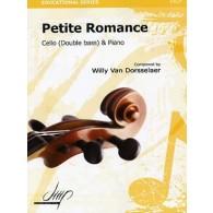 VAN DORSSELAER W. PETITE ROMANCE VIOLONCELLE