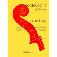 BREVAL J.B. CONCERTO N°1 VIOLONCELLE