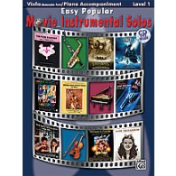 EASY POPULAR MOVIE INSTRUMENTAL SOLOS VIOLA