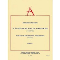 SEJOURNE E. 19 ETUDES MUSICALES VOL 5 VIBRAPHONE
