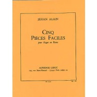 ALAIN J. PIECES FACILES ORGUE
