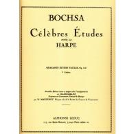 BOCHSA R.N. 40 ETUDES FACILES OP 318 VOL 2 HARPE