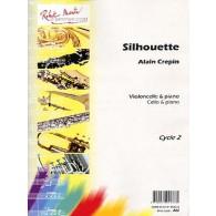 CREPIN A. SILHOUETTE VIOLONCELLE