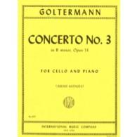 GOLTERMANN G. CONCERTO N°3 SI MINEUR VIOLONCELLE