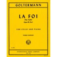 GOLTERMANN G. LA FOI VIOLONCELLE