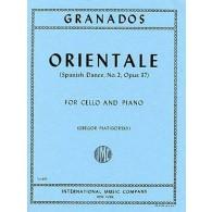 GRANADOS E. ORIENTALE OP 37 VIOLONCELLE