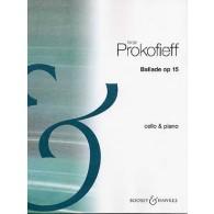 PROKOFIEV S. BALLADE OP 15 VIOLONCELLE