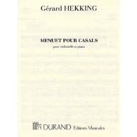 HEKKING G. MENUET POUR CASALS VIOLONCELLE