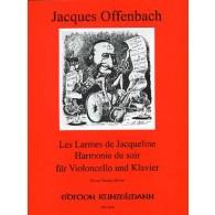 OFFENBACH J. LES LARMES DE JACQUELINE OP 46/2  VIOLONCELLE