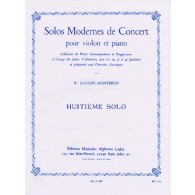 GALLOIS-MONTBRUN R. 8ME SOLO DE CONCERT VIOLON