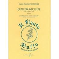 SCHNEIDER G.A. QUATUOR AVEC FLUTE EN SOL MINEUR OP 69/3