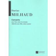 MILHAUD D. CONCERTO FLUTE VIOLON PIANO