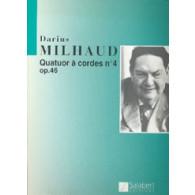 MILHAUD D. QUATUOR A CORDES N°4 OP 46