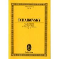 TCHAIKOVSKY P.I. VARIATIONS SUR UN THEME ROCOCO OP 33 CONDUCTEUR