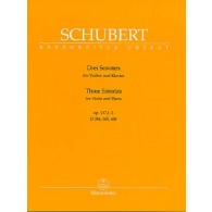 SCHUBERT F. SONATINES OP POST 137 VIOLON