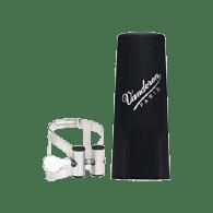 LIGATURE CLARINETTE SIB VANDOREN M/O ARGENT AVEC COUVRE BEC  PLASTIQUE
