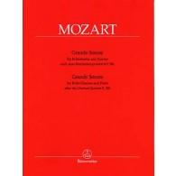 MOZART W.A. GRANDE SONATE D'APRES KV581 CLARINETTE